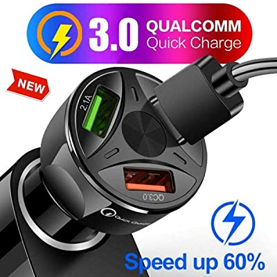 Quick Charge 3.0 Car Charger, 3 USB Ports Charging Adapter for Smartphone and More (1pack): Electronics