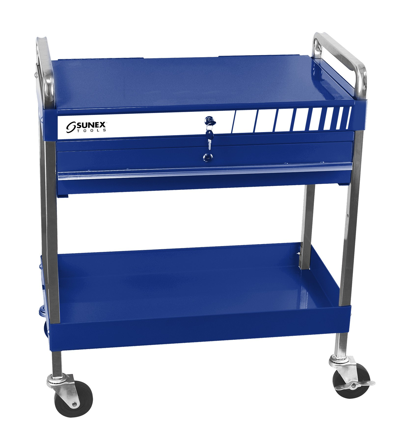Sunex 8013ABL Sunex 8013ABL Service Cart with Locking Top and Drawer, Blue