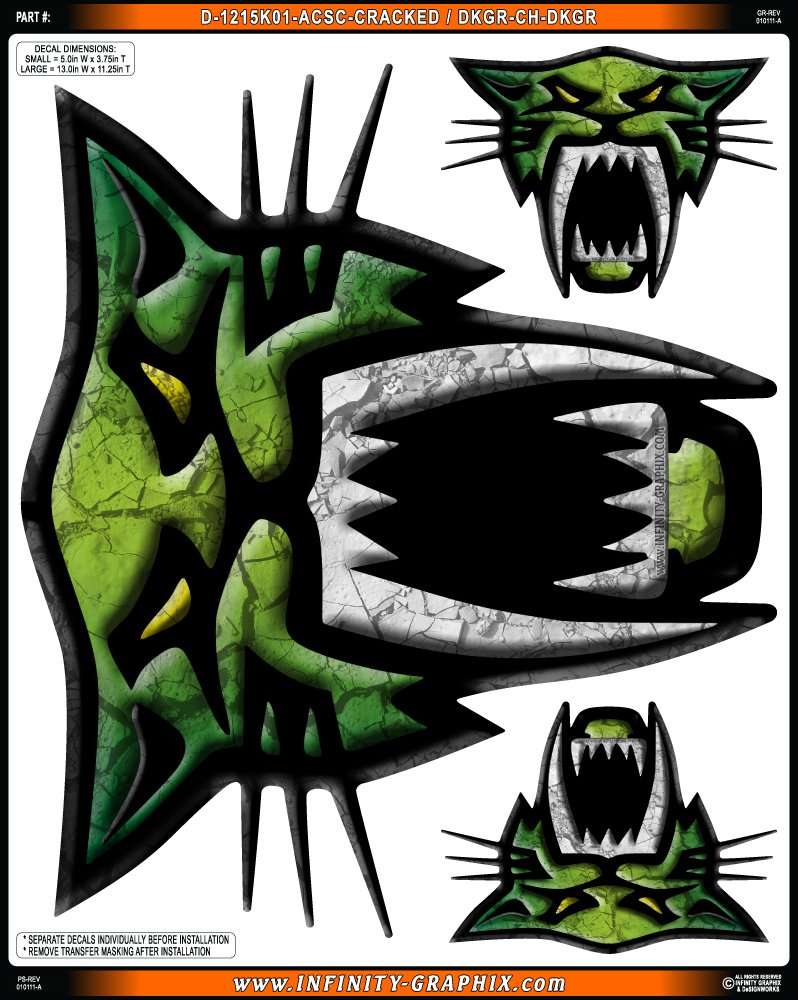 Amazon.com: Arctic Cat Saber – Cracked (Verde Oscuro ...