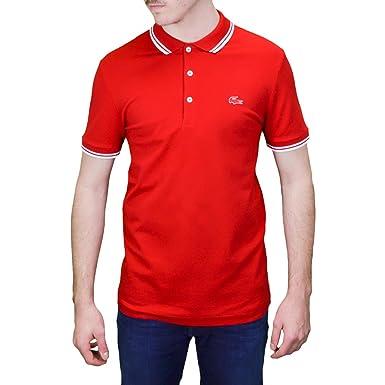25df77df07 Lacoste Polo 3 Boutons Rouge pour Homme: Amazon.fr: Vêtements et ...