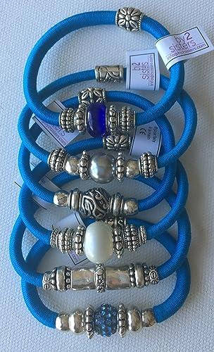 pack pulseras-coleteros turquesa: Amazon.es: Handmade