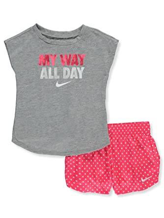 Nike Baby Girl Clothes Cool Amazon NIKE Baby Girls' 60Piece Short Set Outfit Clothing