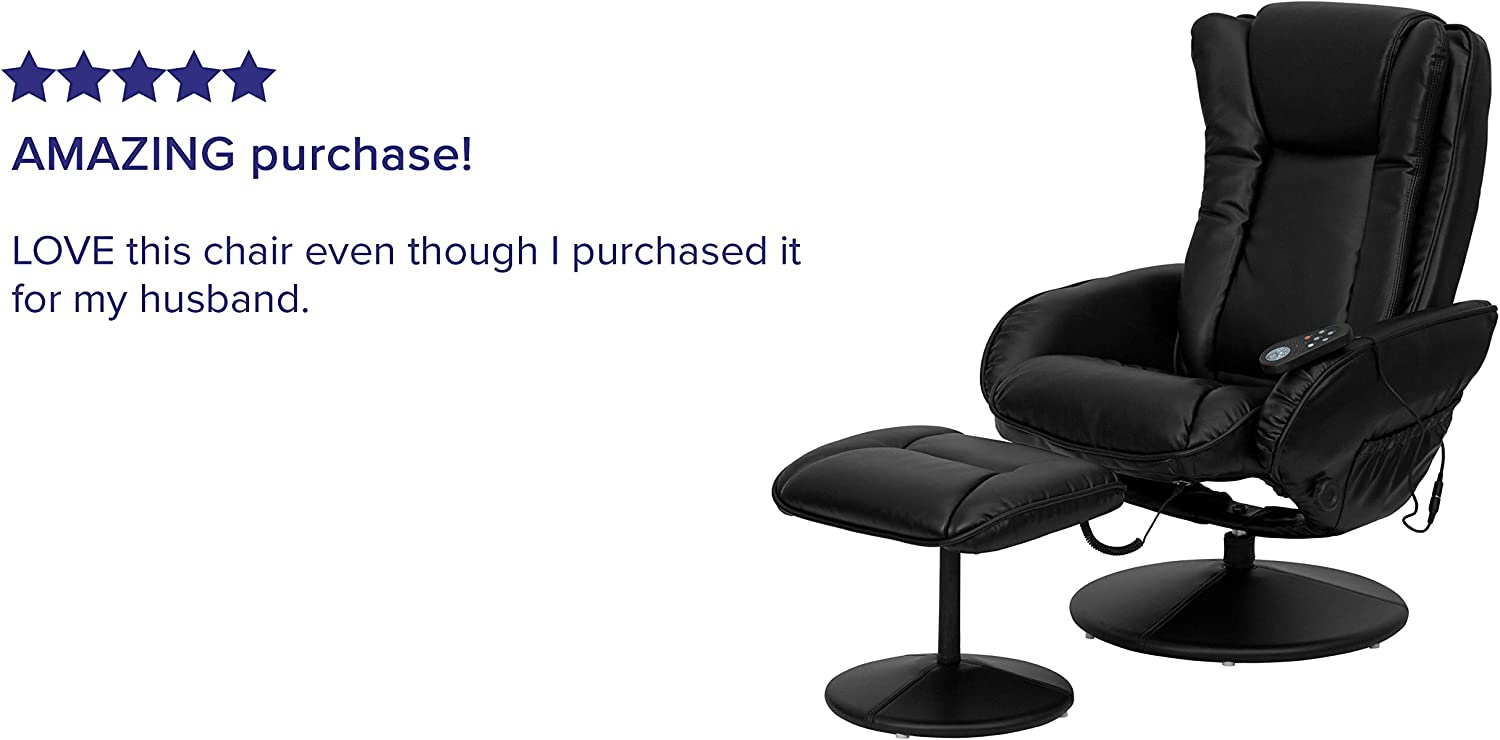 Flash Furniture Massage Leather Recliner for gaming