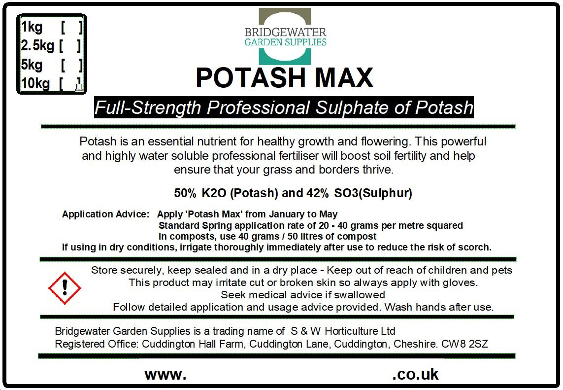 Bridgewater Garden Supplies Potash Max, 20kg