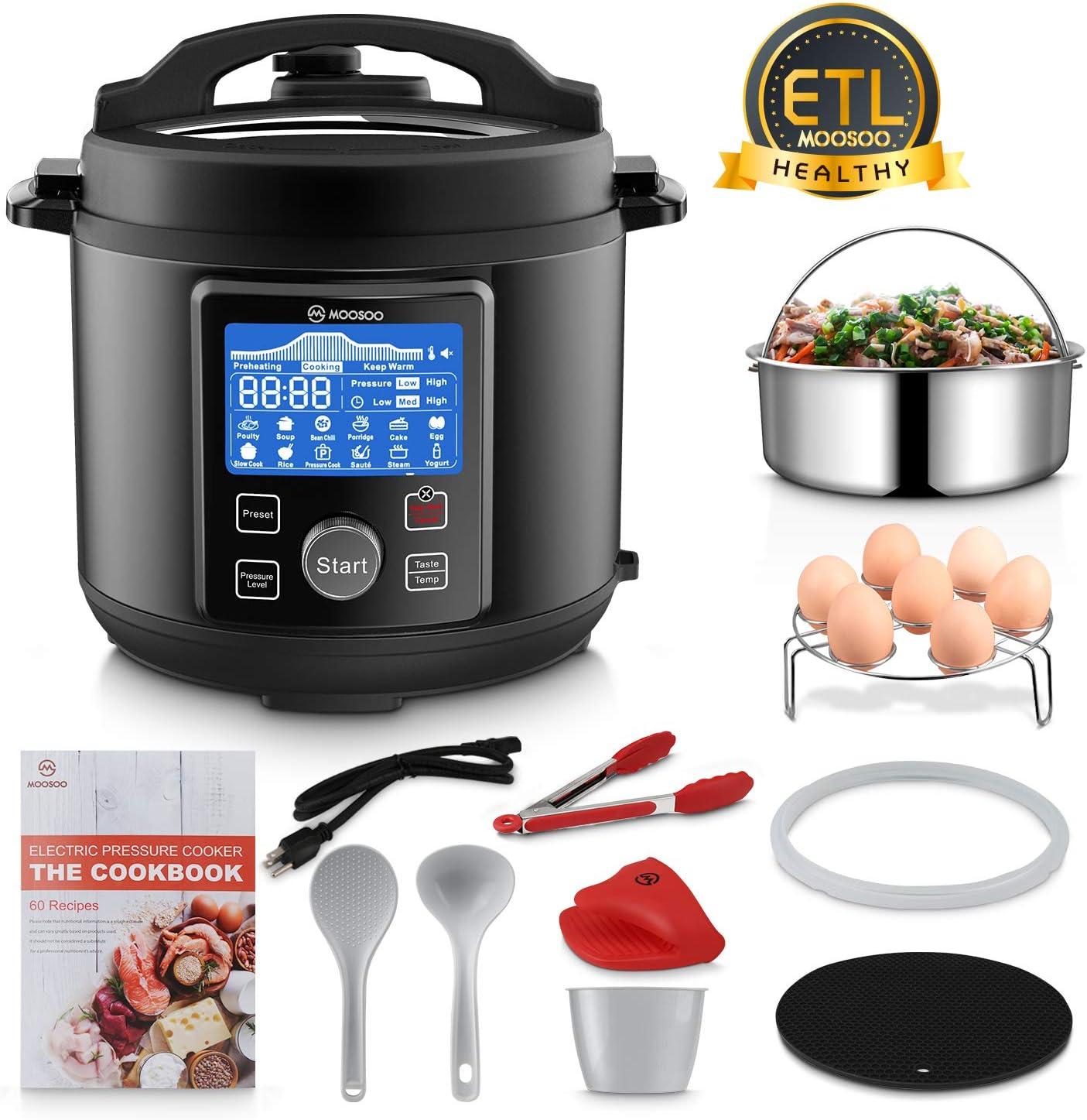 MOOSOO 13-in-1 Instant Digital Pressure Pot - Best Buy Pressure Cooker
