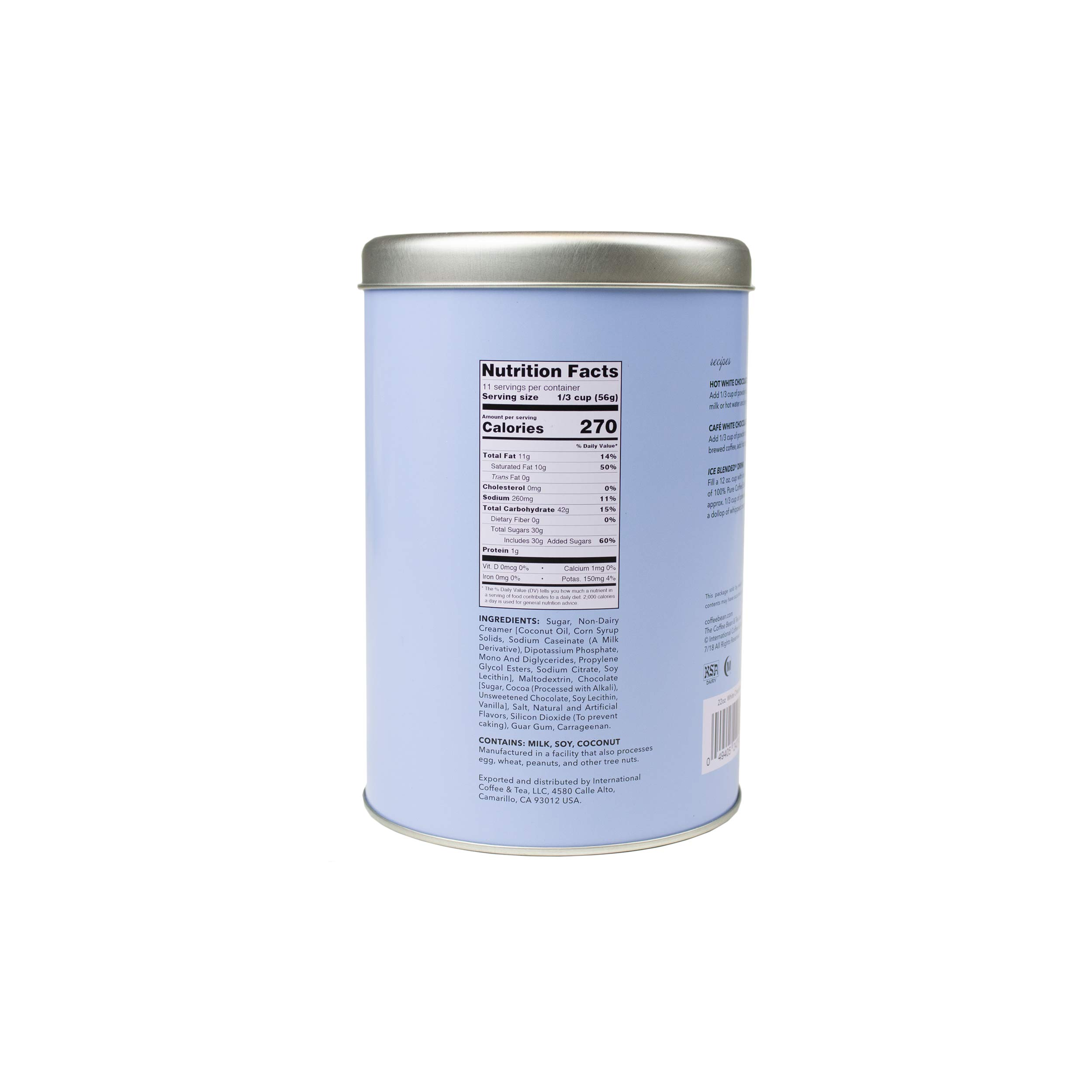 The Coffee Bean & Tea Leaf White Chocolate Powder, 22-Ounce Container by Coffee Bean & Tea Leaf (Image #2)