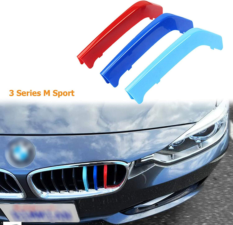 Kidney Grill Cover Trim Decor M3 Look Sport Tri Colour Sticker For MW 3 Series