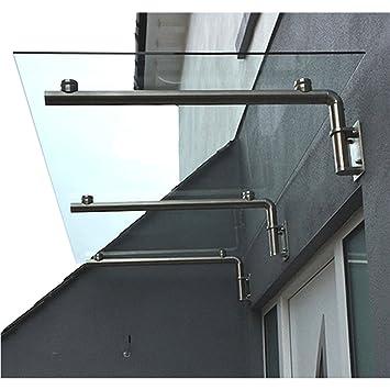 MonsterShop 1800 x 800mm Glass Canopy 4 Stainless Steel Brackets Front/Back Door  sc 1 st  Amazon UK & MonsterShop 1800 x 800mm Glass Canopy 4 Stainless Steel Brackets ...