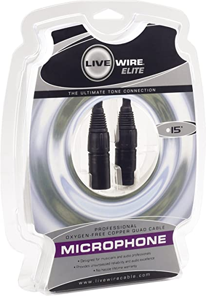 Amazon.com: Livewire Elite Quad Microphone Cable 15 ft.: Musical ...