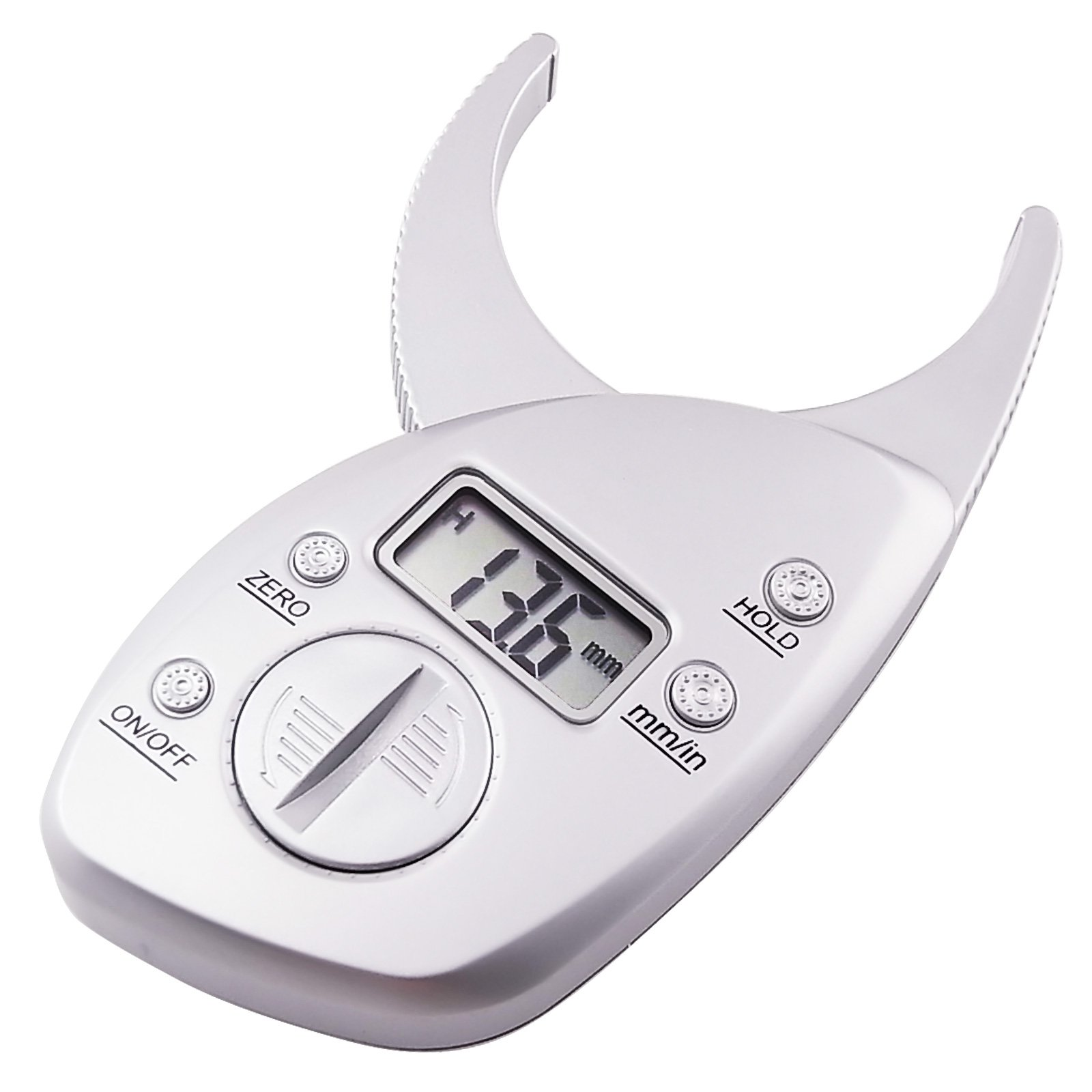Digital Body Measuring Fat Caliper Measure mm inch Tool Body Fat Tester,Body Fat Monitors for Health Monitoring
