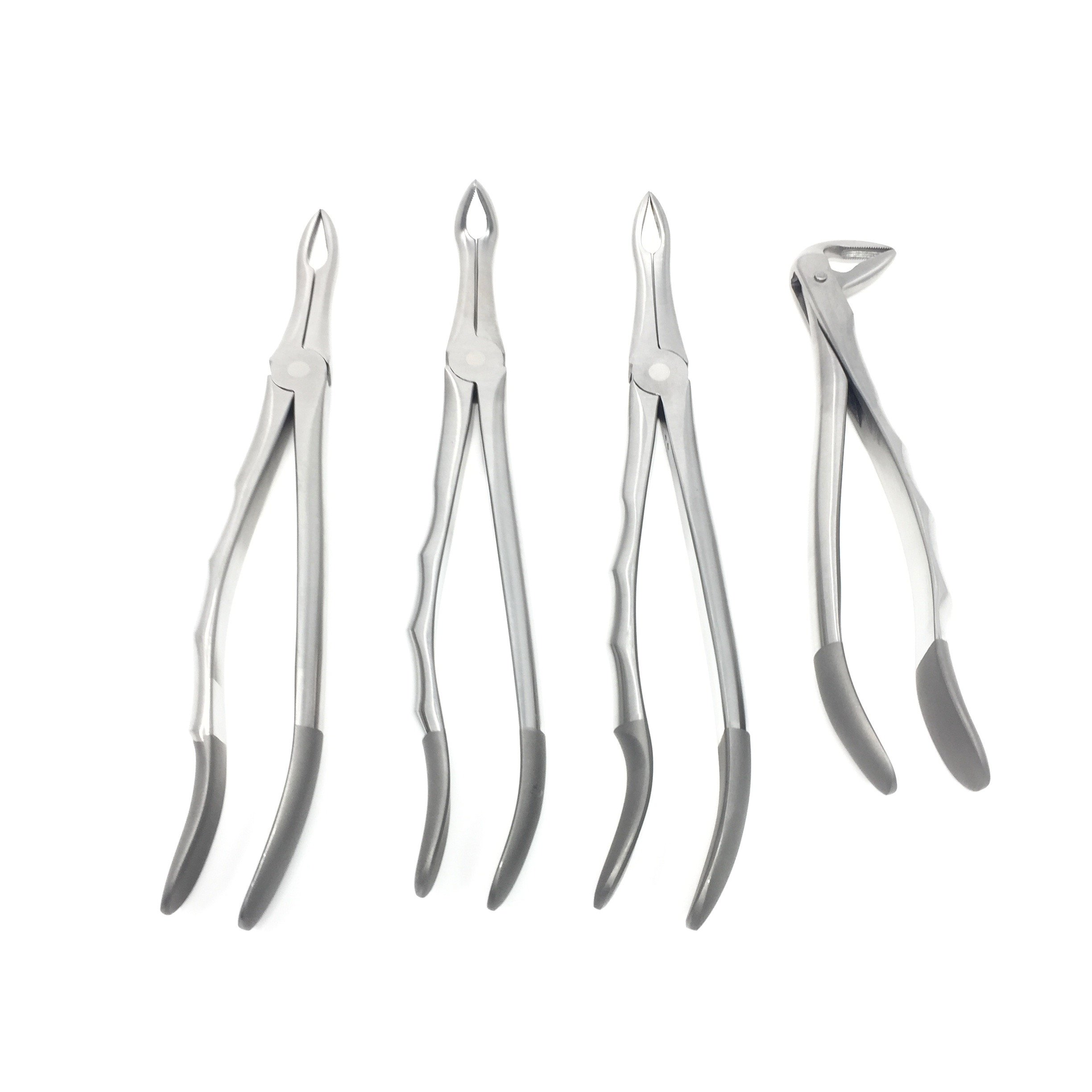 CYNAMED Dental Root Tip Extracting Forceps Set of 4 Diamond Dusted German Stainless Brand