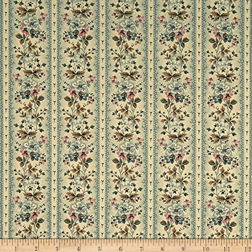 Andover Maling Road Victoria Vines Blue Fabric By The Yard