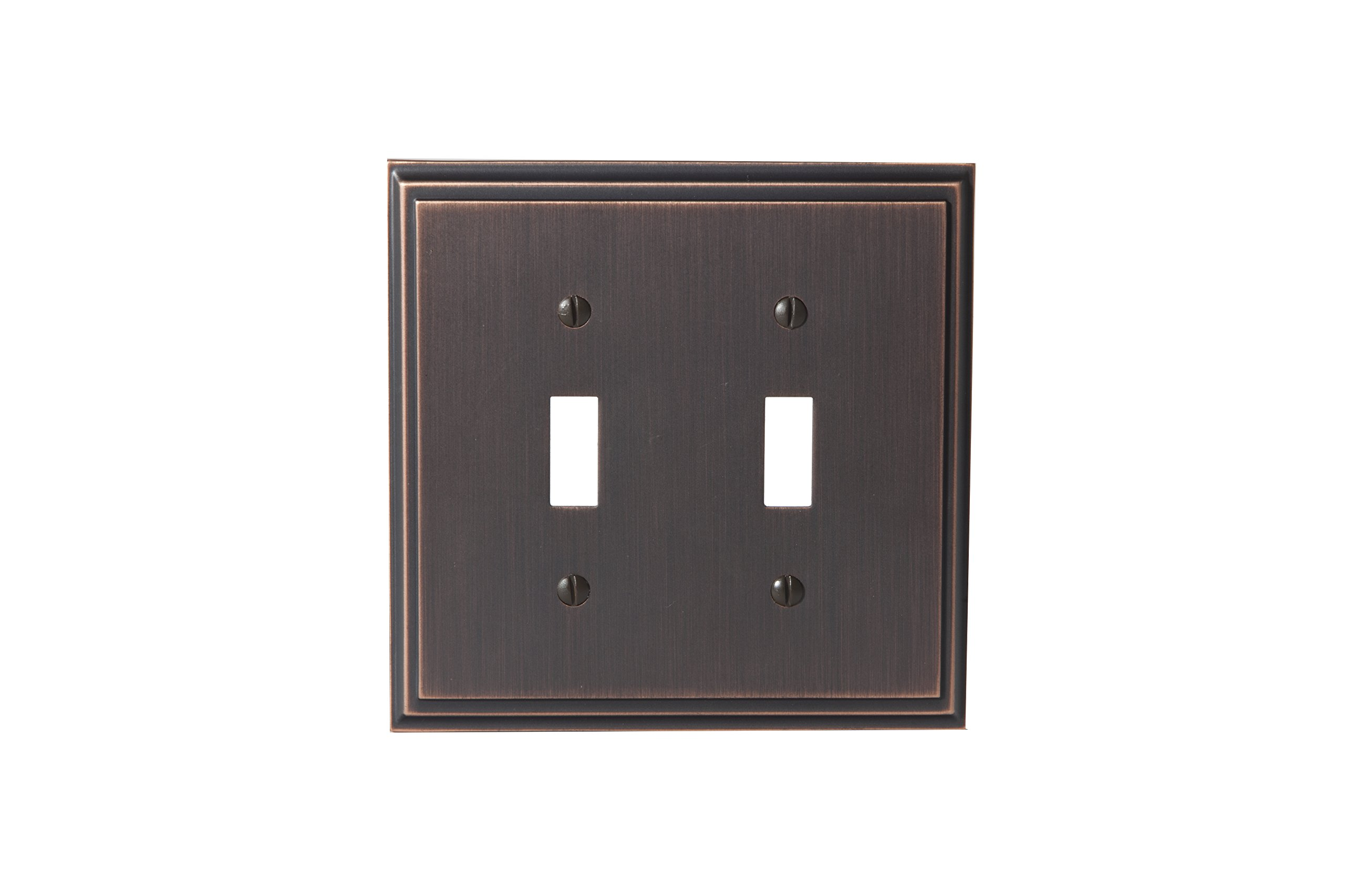 Amerock BP36515ORB Mulholland 2 Toggle Wall Plate - Oil-Rubbed Bronze
