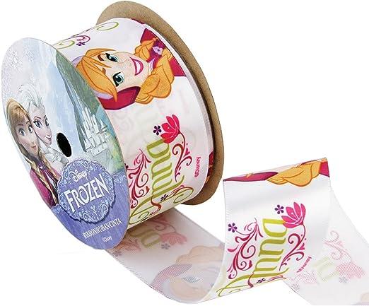 Offray Frozen Craft Ribbon 1 1//2-Inch X 9-Feet White Anna