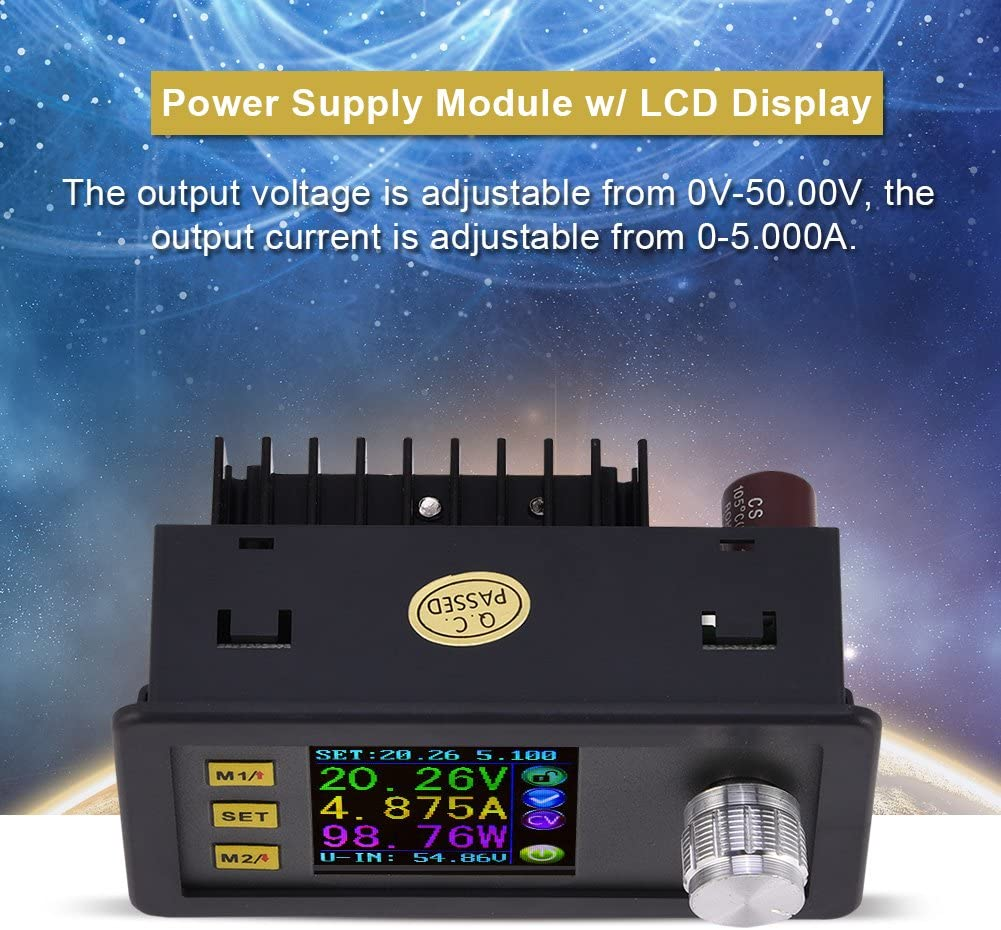 Hongzer Power Supply Module DP20V2A Constant Voltage Current Step-down Programmable Power Supply Module with LCD Display