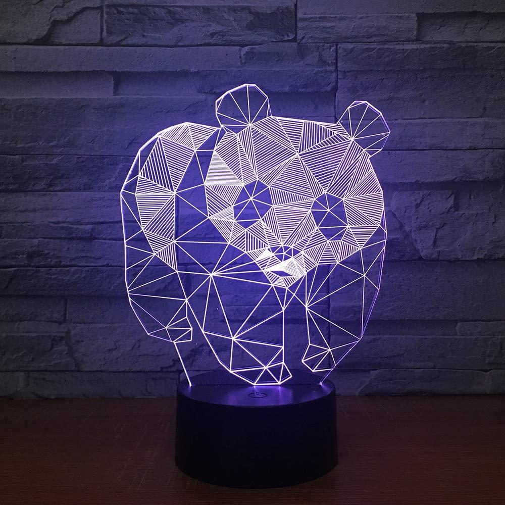 3D Night Light,Lesser Panda,USB Strange Led Custom Panda Lovely 7 Color Change 3D Lamp Christmas Decorations Gift for Baby Room