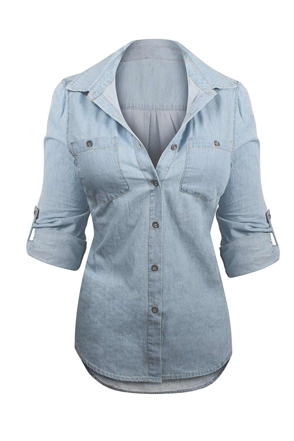 b06f85323 RELAXED CASUAL FIT: The Ultimate Classic Western Denim Top with Contrast  Stitching and Chest Pockets. Relaxed Fit for Comfort, Style and Durability.