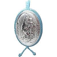 Medallon de cuna o cochecito en Plata bilaminada