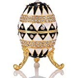 QIFU New Arrive Hand Painted Faberge Egg Style Decorative Jewelry Trinket Box for Gift