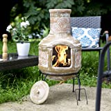 Oxford Barbecues Berkeley Clay Chiminea With BBQ Grill