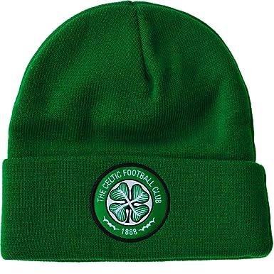 Mens - Celtic FC Winter Beanie Hat One Size  Green   Amazon.co.uk ... e4ed301ff0f