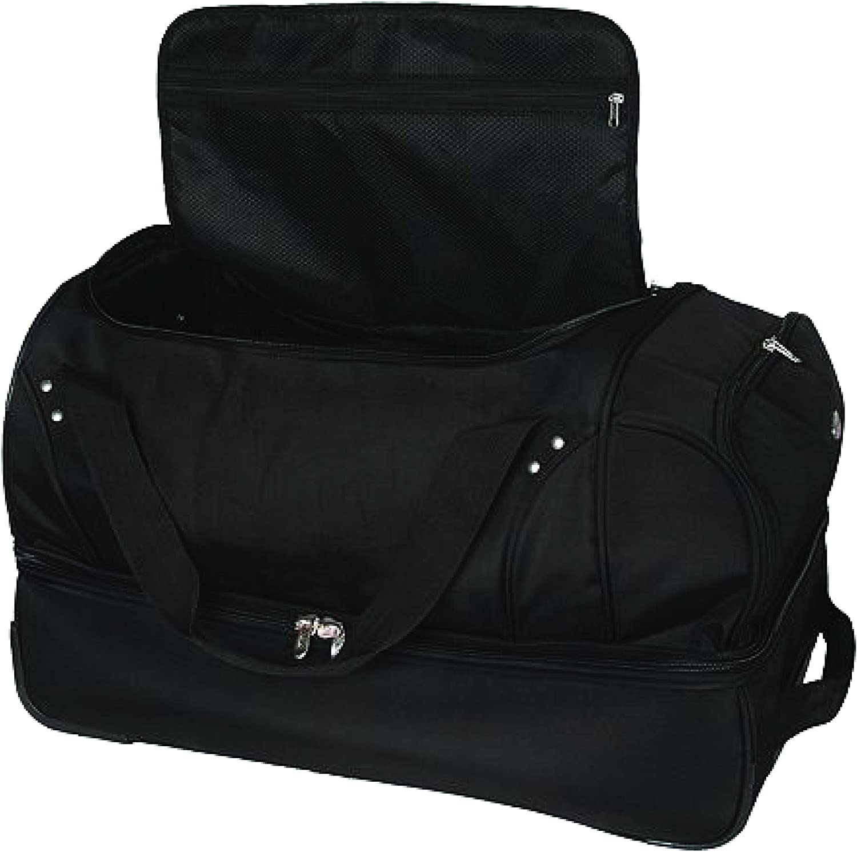 27-inches NCAA Indiana Hoosiers Rolling Drop-Bottom Duffel Bag
