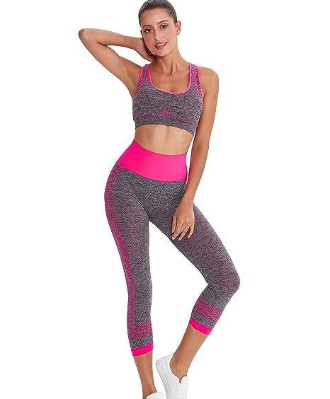 b5d122caa0b Xintianji Women Yoga Fitness Running Bra+Pants Leggings Set Gym ...