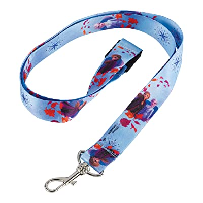 "Frozen 2 Birthday, Anna And Elsa Lanyard, Party Favor, 18.5"" x .75"": Toys & Games"