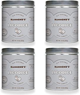 product image for Hammond's Candies - Old Fashioned Licorice Pantry Candies - 4 - 10 Ounce Tins, Natural Licorice Drops, Handmade in Small Batches, Using the Finest Ingredients, Handcrafted in the USA