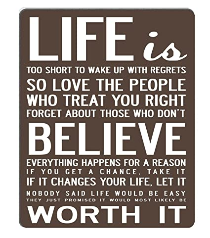 Amazon Wknoon Gaming Mouse Pad Custom Design Mat Live Life Magnificent Motivational Sayings