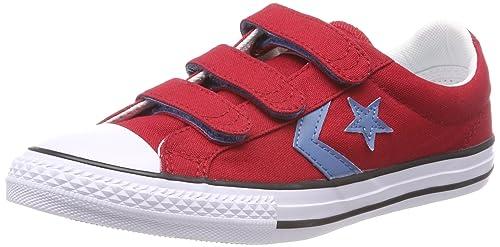 Converse Star Player 3V Ox, Baskets Mixte Enfant, Rouge (Gym