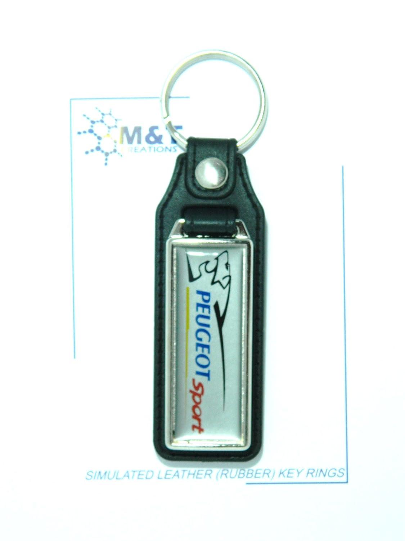 Imitación de cuero (goma) Llavero One Side Medallón Insertar ...