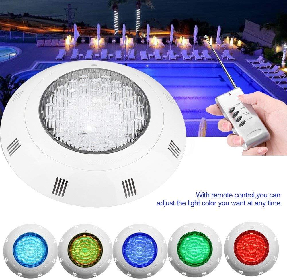 30W Bombilla LED Sumergible Iluminación de Piscinas 300 LED, Luz LED Piscina con Control Remoto, Submersible Luz con Mando a Distancia Cambio de Color RGB LED Luz Sumergible