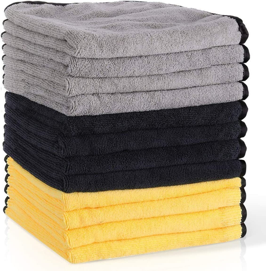 12 x Micro Fibre Cloths microfasertücher Microfibre Cloth dimensions 30 x 30 cm NEW