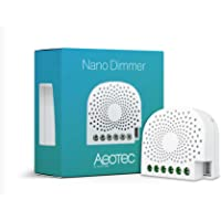 Aeotec Nano-dimmer, Z-Wave Plus inbyggd väggdimmer för LED, glödlampa, halogen, lysrör, ZW111 1.2A neutralt tillval…