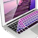 kwmobile Protezione per tastiera Apple MacBook Air 13''/ Pro Retina 13''/ 15'' (a metà 2016) - Copritastiera in silicone QWERTZ - Pellicola protettiva tastiera pc Skin Keyboard fucsia viola