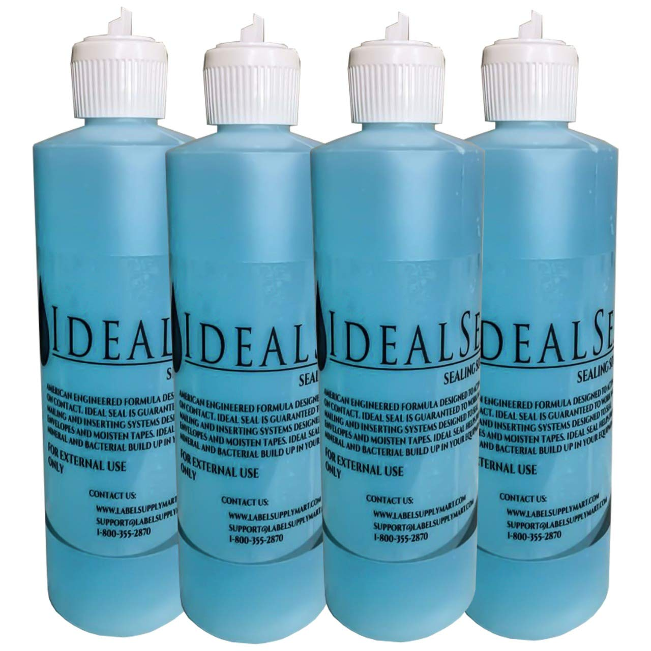 4- Flip Top Pints (64 oz) Sealing Solution Compare to Pitney Bowes E-Z Seal 601-0 (4) by IDEALSEAL