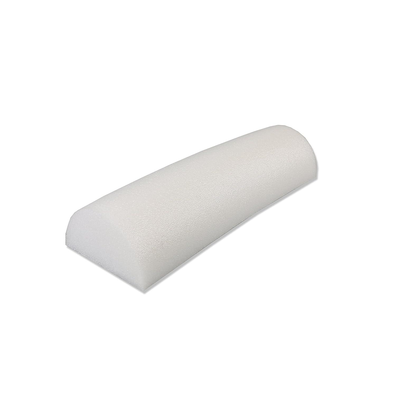 Cando Schaumstoff roller-Weiß PE-Schaumstoff halbrunde