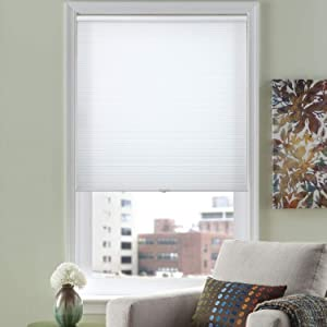 "HOMEDEMO Cellular Shades Cordless Window Blinds and Light Filtering Shades, 34"" W x 64"" H, White (UV Blocking & Privacy Protection)"