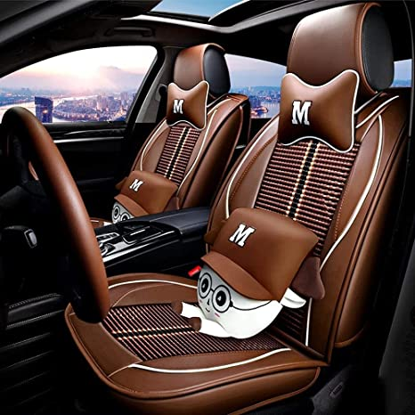 Swell Amazon Com Dx Car Seat Covers Leather Full Set 5 Seat Of Andrewgaddart Wooden Chair Designs For Living Room Andrewgaddartcom