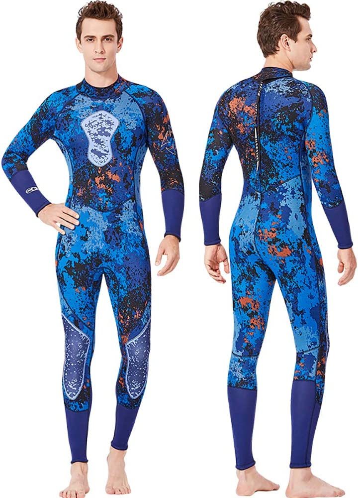 DIVE /& SAIL Wetsuit Men and Women 3mm Neoprene Scuba Diving Surfing and Swimming Full Suits Keep Warm Back Zip for Water Sports