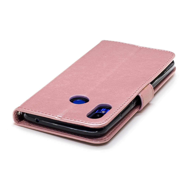 DENDICO Huawei Nova 3I Case, Slim Leather Wallet Case Flip Magnetic