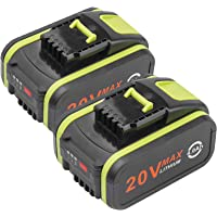 2 Pack 20V 4A Li-ion Battery Replacement for Worx WA3551 WA3551.1 WA3553 WA3553.1 WA3553.2 WA3641Series Battery