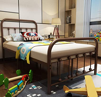 417ae946da5 URODECOR Metal Bed Frame Twin Size Headboard and Footboard The Country  Style Iron-Art Double Bed The Metal Structure