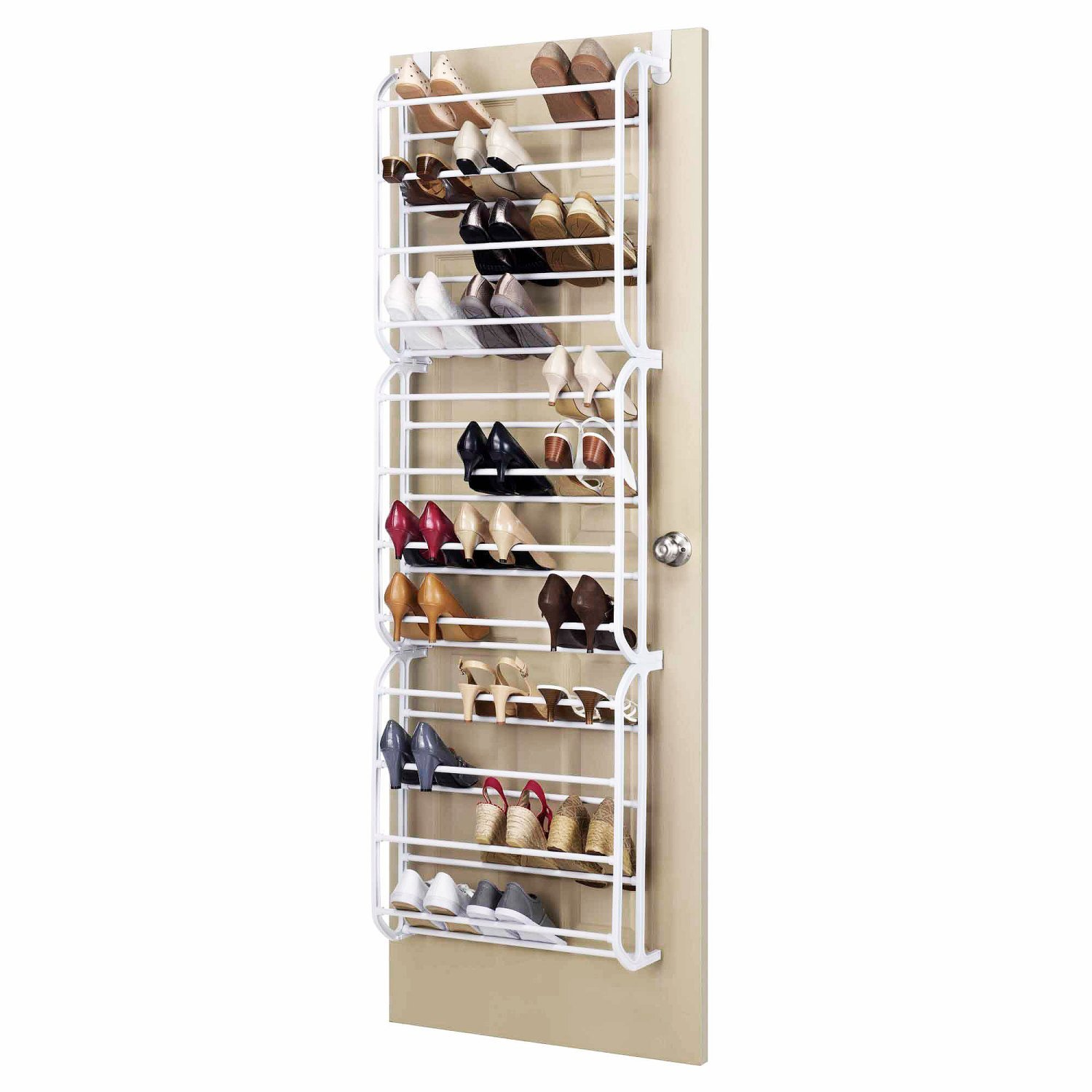 Oypla 36 Pair Over The Door Hanging Shelf Shoe Rack Storage Stand Organiser  Holder Hook: Amazon.co.uk: Kitchen U0026 Home