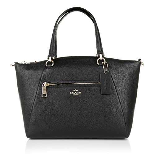 27bd68e35e0ab COACH Bolso de cuero Prairie Bolso de bolso Pebbled Black Ladies  Bolsos de  mujer Shoulderbags Tote Bag   Amazon.es  Zapatos y complementos