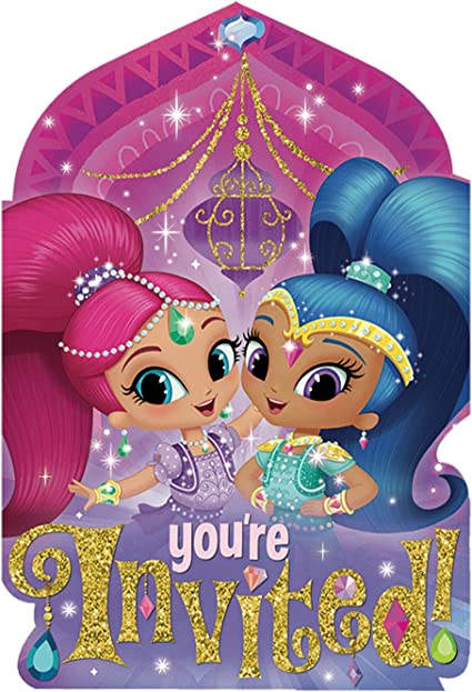 Amazon.com: American Greetings Shimmer y Shine Invitar a ...