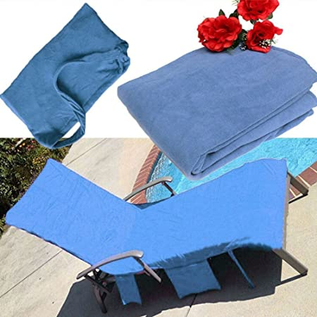 Fine Himozoo Lounge Mate Beach Towel Microfiber Pool Lounger Chair Cover With Pockets Holidays Sunbathing Towels Blue Spiritservingveterans Wood Chair Design Ideas Spiritservingveteransorg