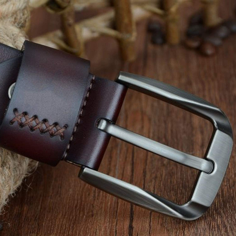 buckle cow genuine leather belts for men 130cm mens belt cinturones hombre