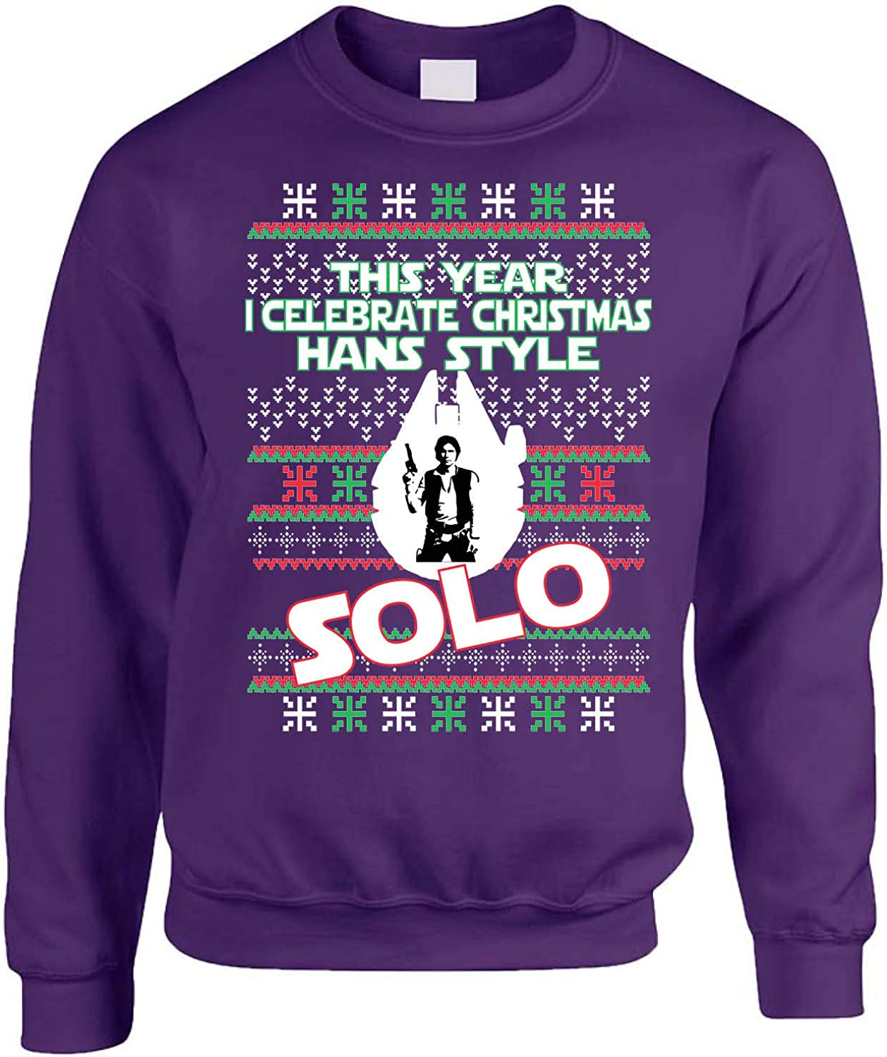 Allntrends Adult Sweatshirt This Year I Celebrate Christmas Solo Trendy Xmas Top
